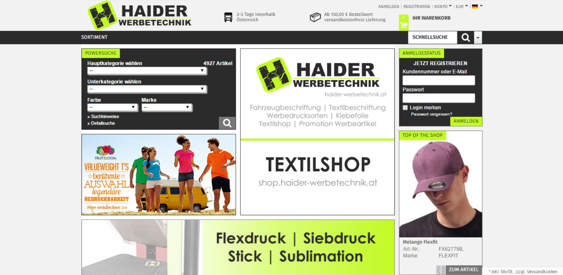 Textilshop für Promotion, Freizeit und Beruf!